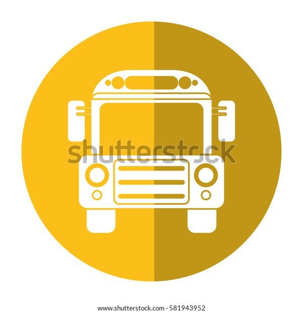 school bus transport design shadow