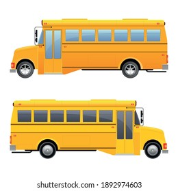 School bus vector design illustration isolated on white background