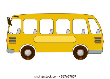 School bus. Vector illustration isolated on white background.