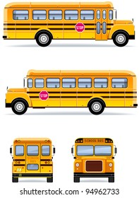School bus  in vector  (Set #32)