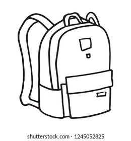 School or camping backpack, doodle art
