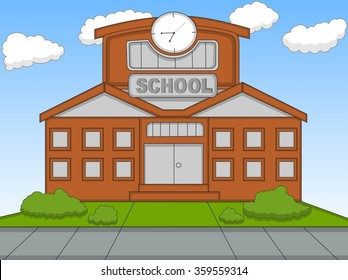 School cartoon vector illustration