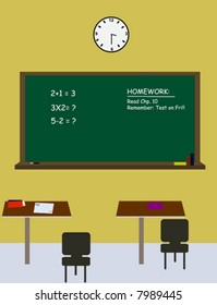 School classroom.