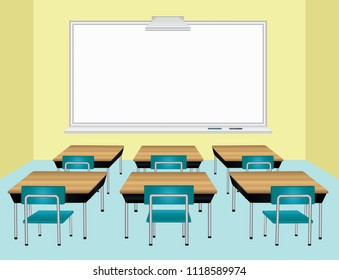 School classroom background