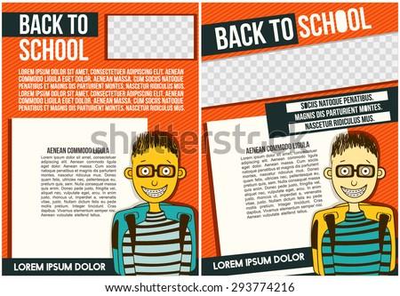 school college flyer template stock vector royalty free 293774216