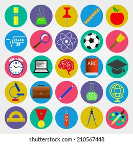 School, college, university. Education. A set of objects for education in school, college, university.