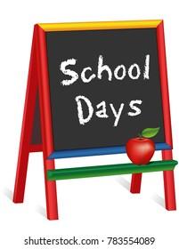 School Days, Apple for the Teacher, Childrens Chalkboard Easel