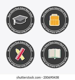 School design over white  background, vector illustration