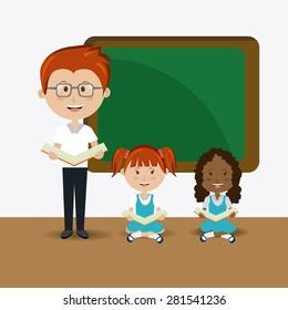 School design over white background, vector illustration.