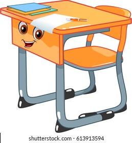 School Desk Cartoon Images, Stock Photos & Vectors | Shutterstock