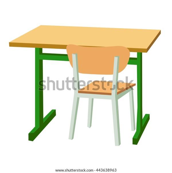 Admirable School Desk Chair Vector Flat Color Stock Vector Royalty Download Free Architecture Designs Scobabritishbridgeorg