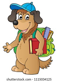 School dog theme image 1 - eps10 vector illustration.