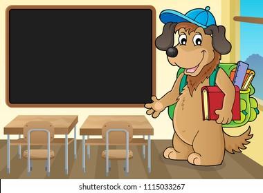 School dog theme image 3 - eps10 vector illustration.