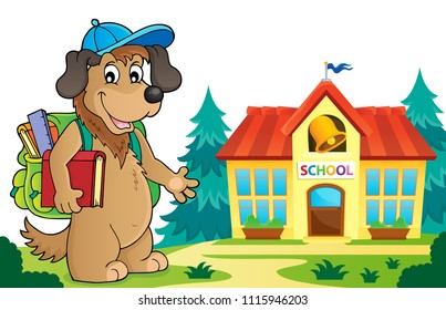 School dog theme image 5 - eps10 vector illustration.