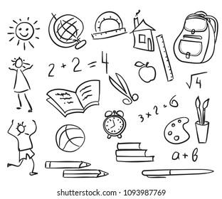 school Doodle, hand drawing, sketch