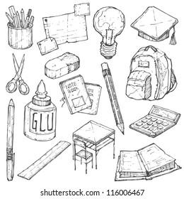 School Doodle Vector Set