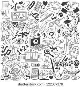 School - doodles collection