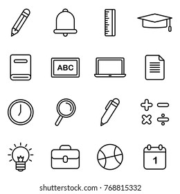 School and Education Icons Related. 16 School And Education Vector Icons