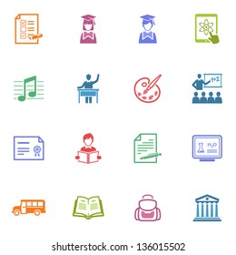 School and Education Icons - Set 2 | Colored Series