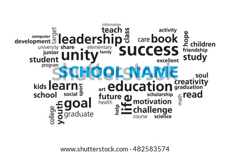 School education word cloud vector template stock vector royalty school education word cloud vector template modern education concept use your school name instead maxwellsz