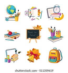 School And Eduction Related Sets Of Objects