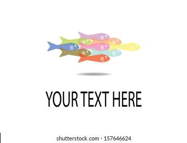 School of Fish. Vector