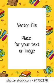 School frame. Vector template