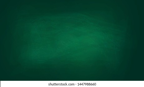 school green board background. traces of chalk. texture for your text. vector chalkboard