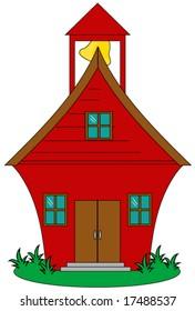 School house vector.