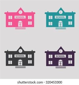 School icon. building. knowledge
