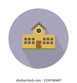 School icon in flat design isolated vector illustration for web