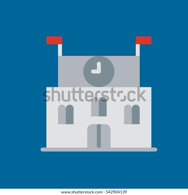 school icon flat disign