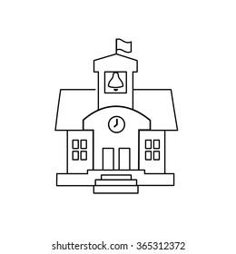School icon line vector