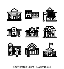 school icon or logo isolated sign symbol vector illustration - Collection of high quality black style vector icons
