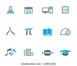 School icon series in duo tone style