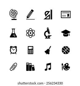 School icon set-EPS10 vector