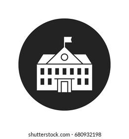 school icon vector isolated