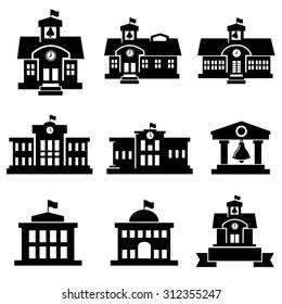 School  icons vector.