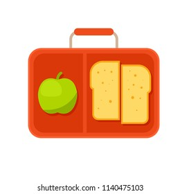 School Lunch Box icon. Clipart image isolated on white background