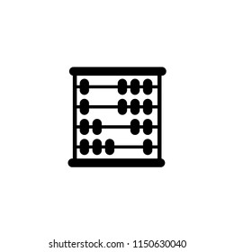 School Mathematics Abacus. Flat Vector Icon illustration. Simple black symbol on white background. School Mathematics Abacus sign design template for web and mobile UI element