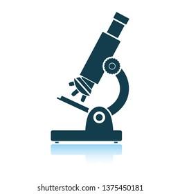 School microscope icon. Shadow reflection design. Vector illustration.