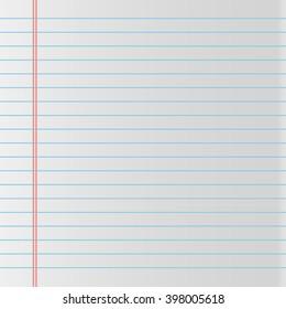 School notebook paper