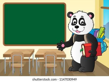 School panda theme image 2 - eps10 vector illustration.