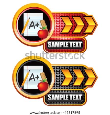 school paper gold arrow nameplates stock vector royalty free