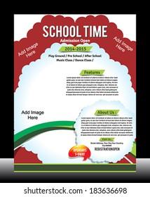 School Promotion Flyer Template Vector illustration