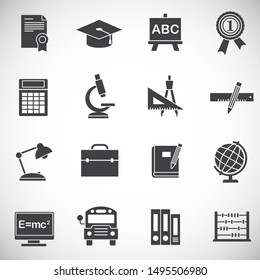 School related on background for graphic and web design. Simple illustration. Internet concept symbol for website button or mobile app.