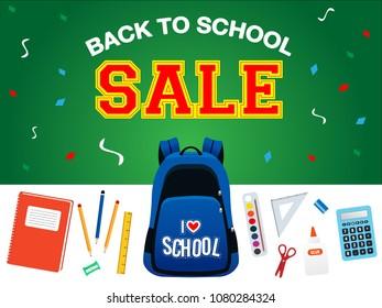 school sale poster
