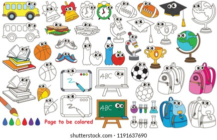school set be colored coloring 260nw