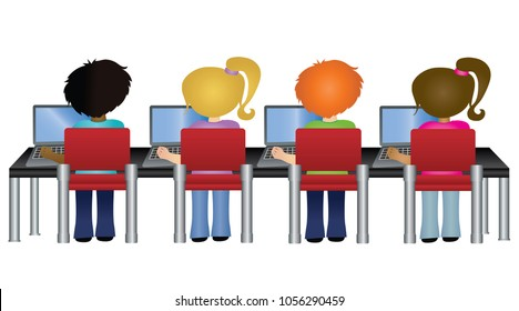 computer lab images stock photos vectors shutterstock rh shutterstock com computer lab clipart school computer lab clipart