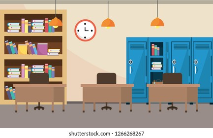 school study classroom cartoon